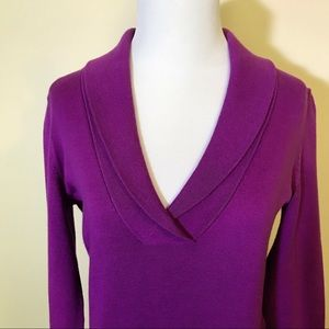 Loft Purple Soft V neck blouse